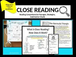 Rl 4 1 Anchor Chart Reading Comprehension Passages With Close Reading Strategies Ccss Rl 4 1