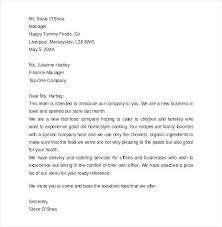 Cover Letter Business Format Business Introduction Letter Accounting