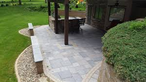 Slate paver patio