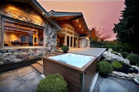 Jacuzzi Hot Tub Outside Cabin