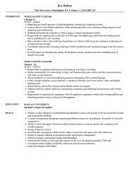 Web Content Editor Resume Samples Velvet Jobs