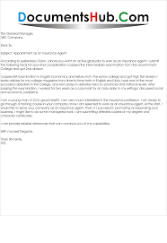 Great Sample Cover Letter Insurance Agent Letters Assistant R