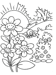 Free Spring Coloring Sheets Spring Flower Coloring Pages Free Spring