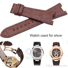 luxurious genuine leather watchband belt 25 18mm brown black watch strap for pp without buckle accessories metal watch band custom watch bands from