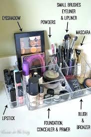 vanity makeup organizer vanity makeup organizer ideas home decor renovation ideas white wall mounted countertop makeup