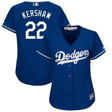 Women's Los Angeles Dodgers Clayton Kershaw Majestic Fashion Royal Plus  Size Cool Base Player Jersey