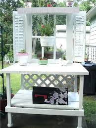 old door potting bench by front ideas