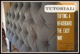 tufting a headboard the easy way