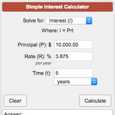 Simple Interest Calculator I Prt