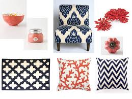 Orange Accessories For Living Room Coral Meets Navyhome Decor Love Of Family Home