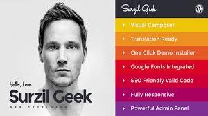 Geek Personal Resume Portfolio Wordpress Theme Themeforest