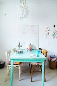 mismatched chairs for dining room need to paint cur table somehow