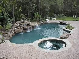 custom swimming pool designs. Delighful Custom Pool Design Dazzling Inground Custom Swimming Design With Jacuzzi And  Natural Fountain Stones In Designs O