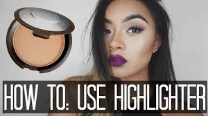 how to apply highlighter strobing makeup tutorial mia randria you