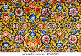 Historical Patterns Amazing Floral Patterns On Colorful Mural Historical Stock Photo Edit Now