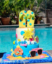 Birthday Cake Ideas For A Pool Party Unique Birthday Party Ideas