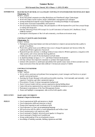 Contract Engineer Resume Samples | Velvet Jobs