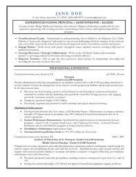 Bunch Ideas of School Principal Resume Sample In Free Download