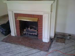 Mantel On Brick Fireplace Furniture Magnificent Brick Fireplace Mantel Design For Any Space
