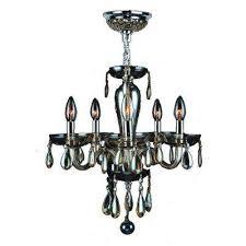 gatsby 5 light polished chrome and golden teak hand blown glass chandelier