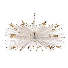 supernova custom chandelier by lou blass in white with bronze accents fittings for