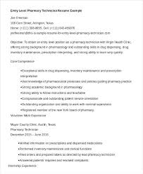 Pharmacy Technician Resume Examples Awesome Pharmacy Technician Resume Example Resume For Entry Level Pharmacy