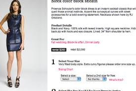 Size Chart Rent The Runway Rent The Runway Lets You Borrow Their Clothes Racked Ny