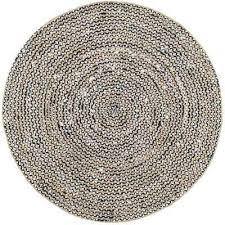 glinda natural fiber black 6 ft x 6 ft round area rug