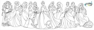How many princesses do you know? Get This Disney Princess Coloring Pages Free Printable 434409