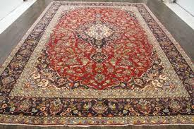persian traditional vintage wool 9 5 x 13 oriental rug handmade carpet rugs