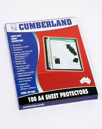 Avery 8383 Cumberland Of120a Sheet Protector A4 Copy Safe Clear 40 Micron Box100