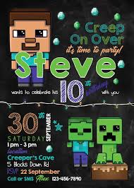 Free Printable Minecraft Invitations Inspirational Free