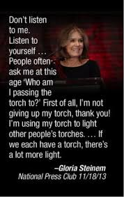 "Gloria Steinem Quotes Enchanting Quotable Gloria Steinem On ""passing The Torch"" News Of The Restless"