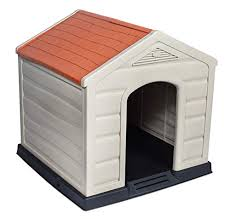internet s best outdoor dog house medium large dogs comfortable cool shelter durable plastic design home kennel indoor outdoor use large