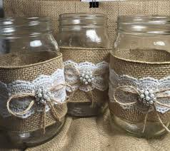 Decorating With Mason Jars And Burlap Set Of 100 Burlap Quart Mason Jar Wraps Rustic By ElianasTreasures 83