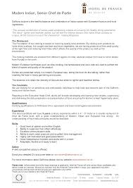 new cv format for chef sample service resume new cv format for chef chefs cvs and resumes for cv examples for first job