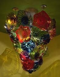 circo blown glass chandelier