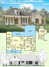 plan hz bed acadian home with bonus over garage sq ft rambler house plans with bonus room rambler house plans with basement and bonus room