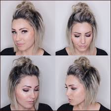 short hairstyles updos 255079 fashion glamorous cute short hair updo picture top knot for short