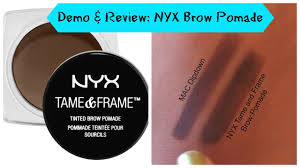 demo review nyx tame and frame brow pomade black south african your sanesh makeup