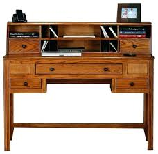 solid wood desk with hutch writing oak ridge w dark deskahogany solid wood desk with hutch