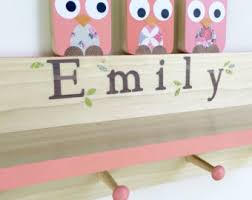 Personalized Kids Coat Rack Shelf Maple Shade Kids 74