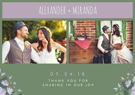 Wedding Card Collage Customize 341 Wedding Thank You Card Templates Online Canva