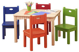 wooden child table and chairs sevenstonesinc