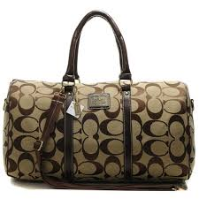 Coach Bleecker Monogram In Signature Large Khaki Luggage Bags AFJ