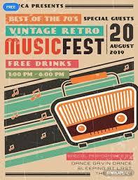Free Music Poster Templates Free Vintage Retro Music Poster Retro Retro Vintage Music