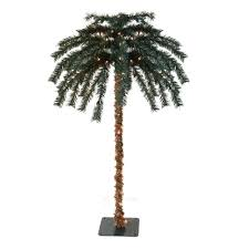 pre lit tropical outdoor summer patio artificial palm tree and clear