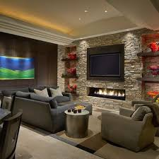 chic feature wall ideas living room