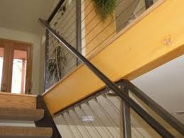 Interior Cable Railing with Continuous Stair Hand Rail