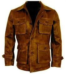mens cafe racer brown vine style motorcycle biker genuine leather jacket